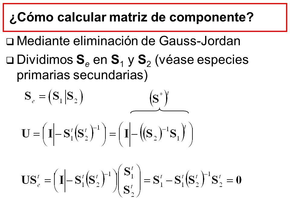 ¿Cómo calcular matriz de componente