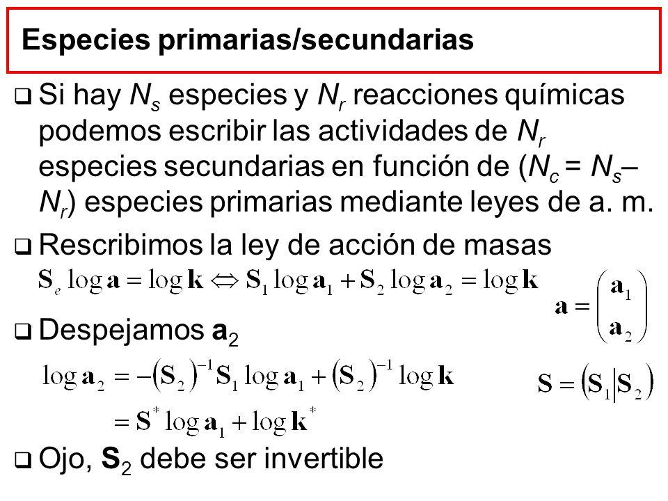 Especies primarias/secundarias