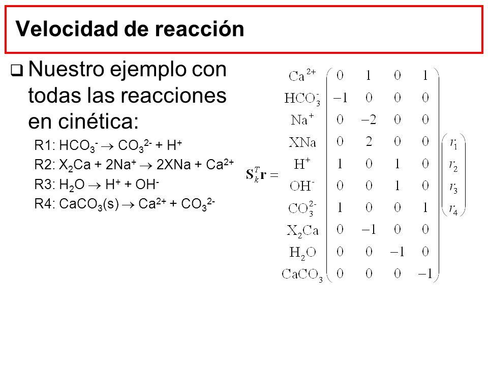 Nuestro ejemplo con todas las reacciones en cinética: