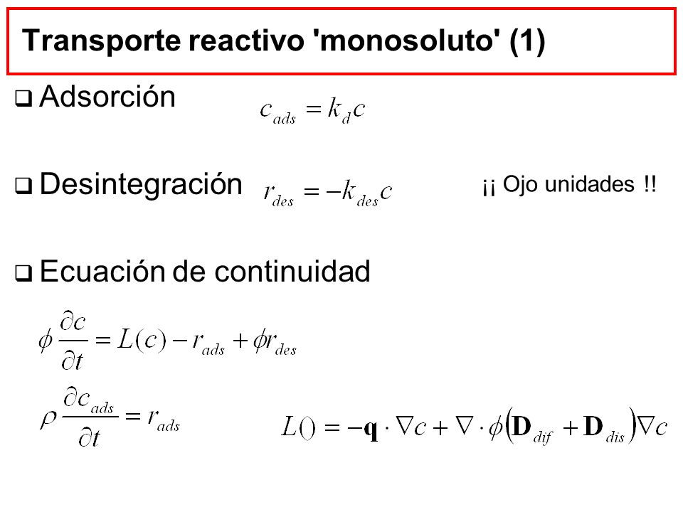 Transporte reactivo monosoluto (1)