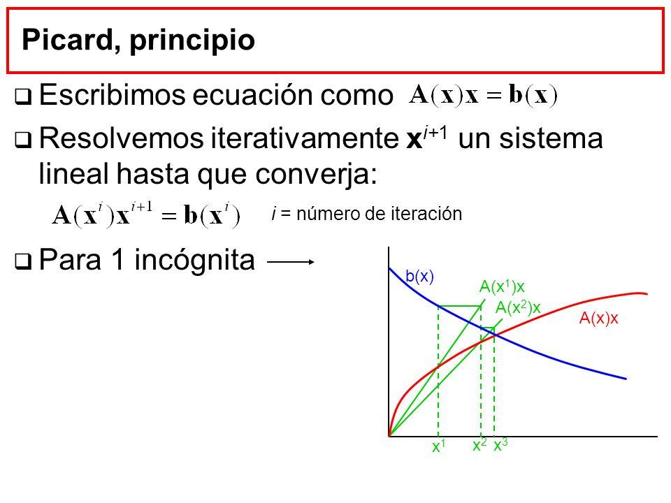 Escribimos ecuación como