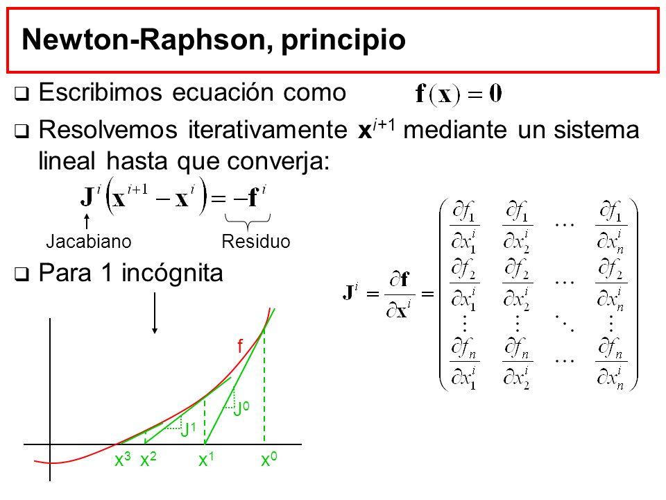 Newton-Raphson, principio