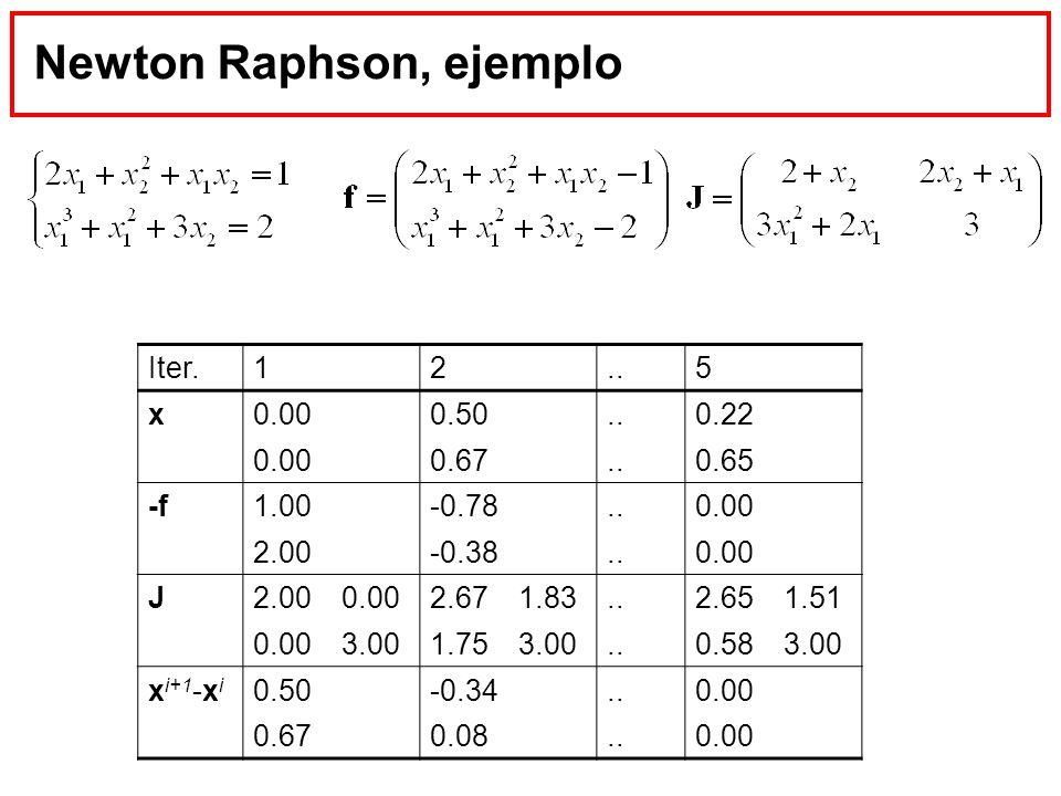 Newton Raphson, ejemplo