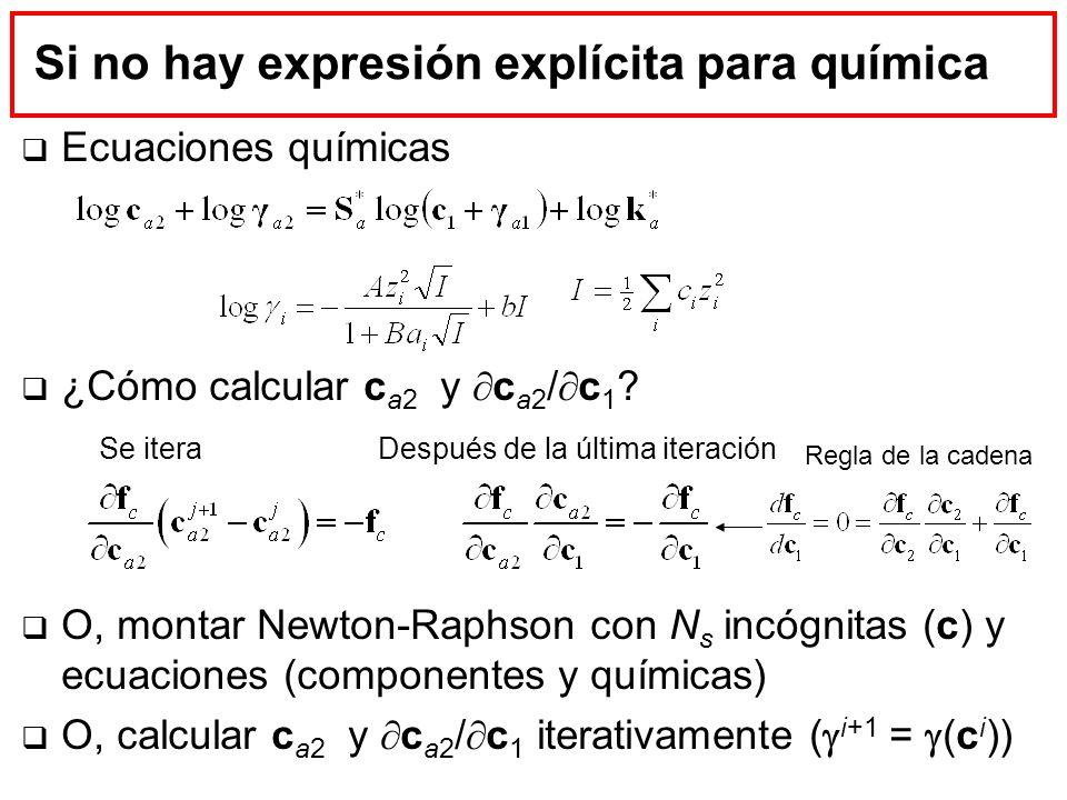 Si no hay expresión explícita para química