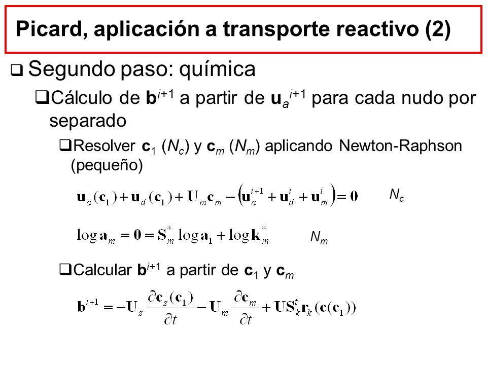 Picard, aplicación a transporte reactivo (2)