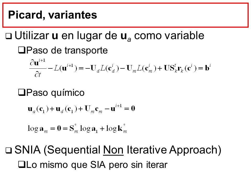 Utilizar u en lugar de ua como variable