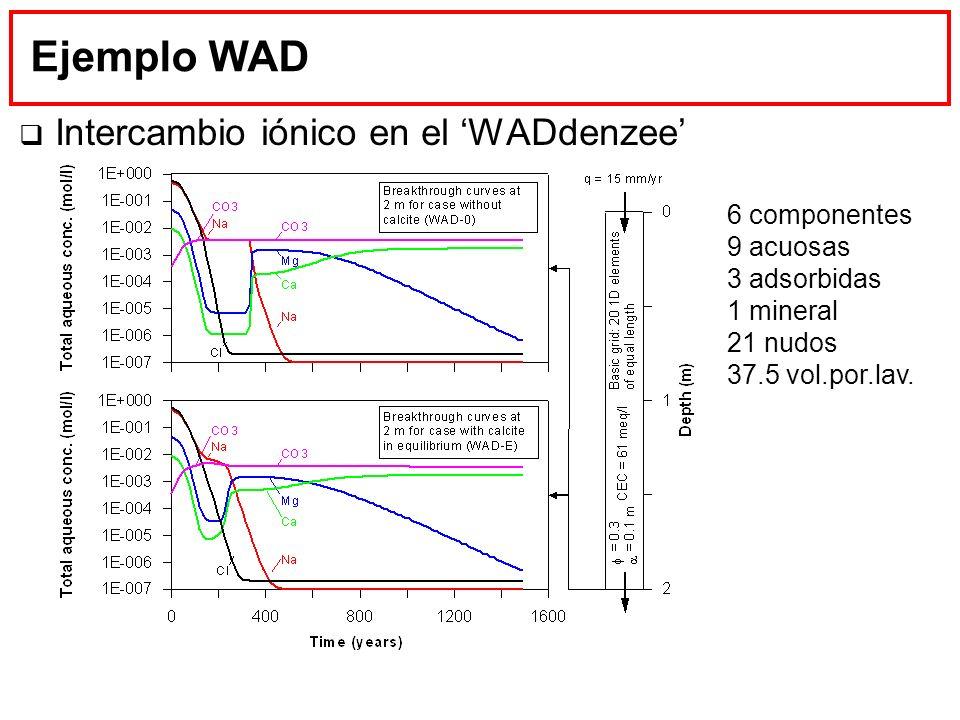 Ejemplo WAD Intercambio iónico en el 'WADdenzee' 6 componentes