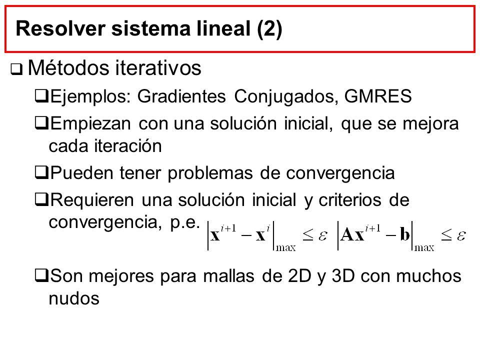 Resolver sistema lineal (2)