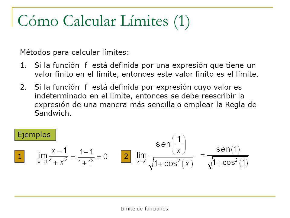 Cómo Calcular Límites (1)