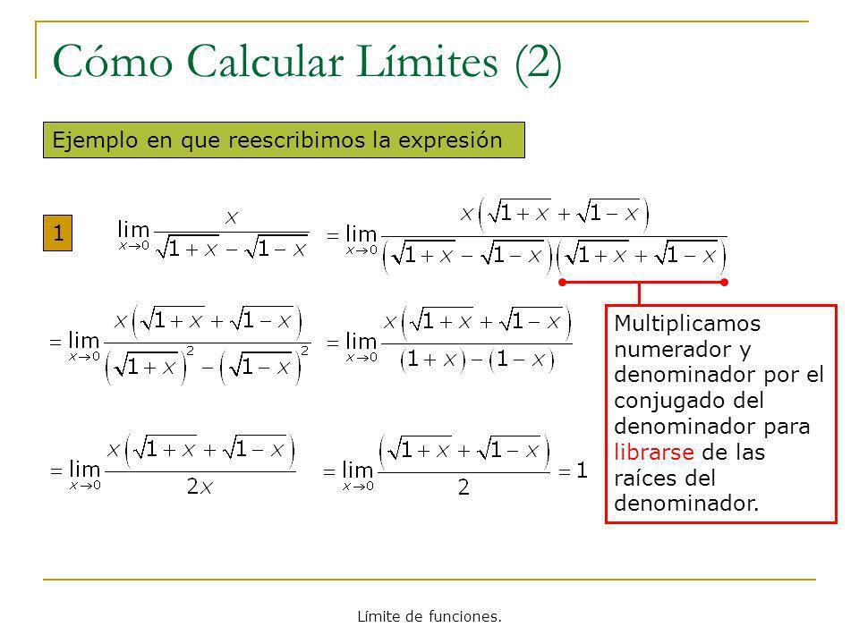 Cómo Calcular Límites (2)