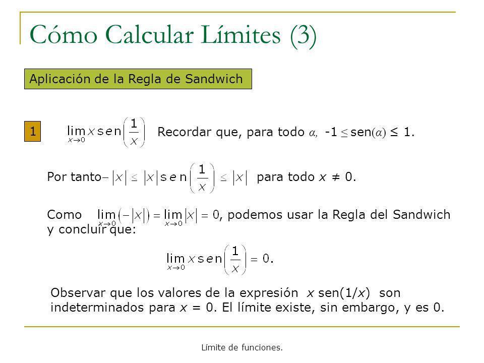 Cómo Calcular Límites (3)
