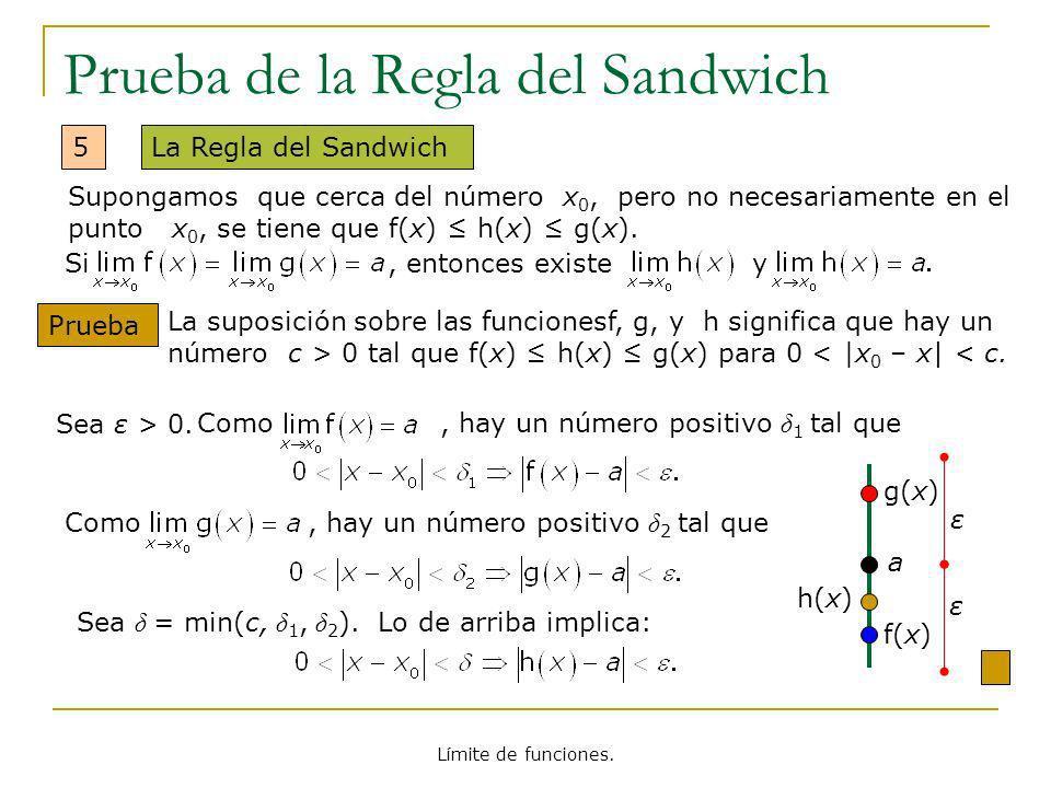 Prueba de la Regla del Sandwich