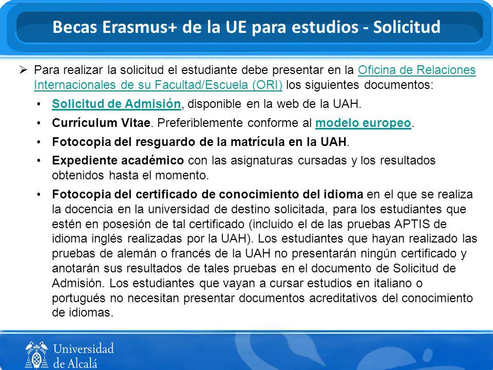Programas de movilidad internacional de la UAH - ppt descargar