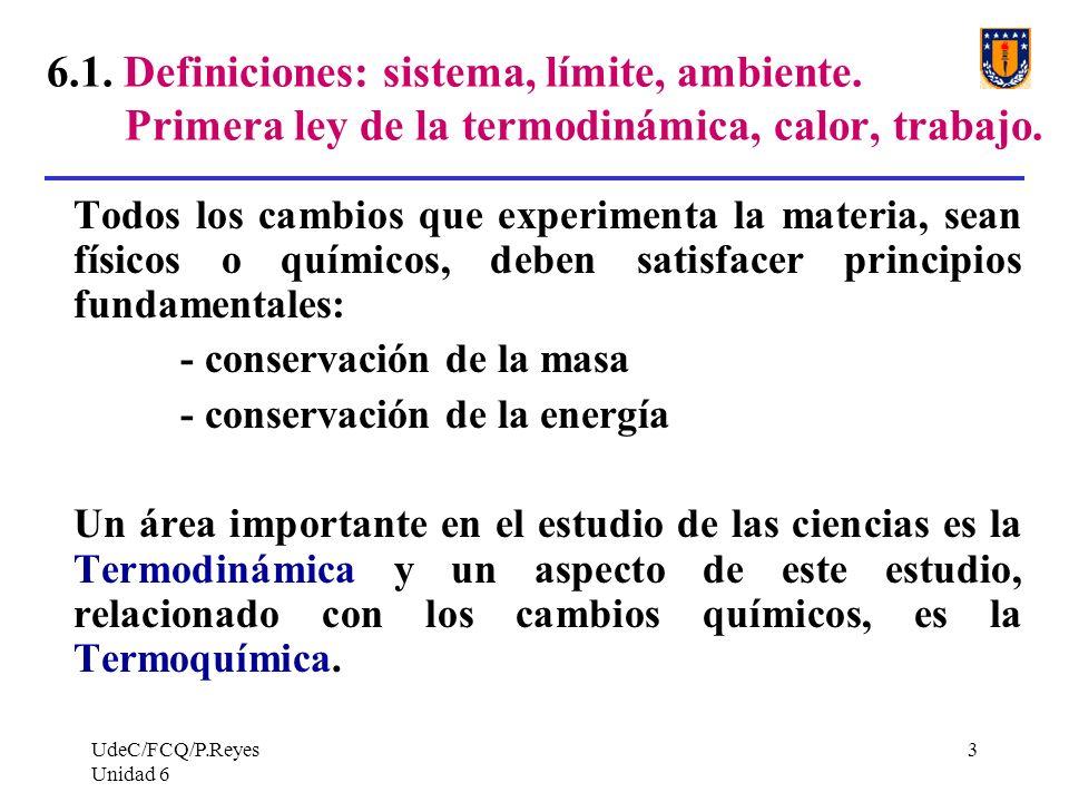 6. 1. Definiciones: sistema, límite, ambiente