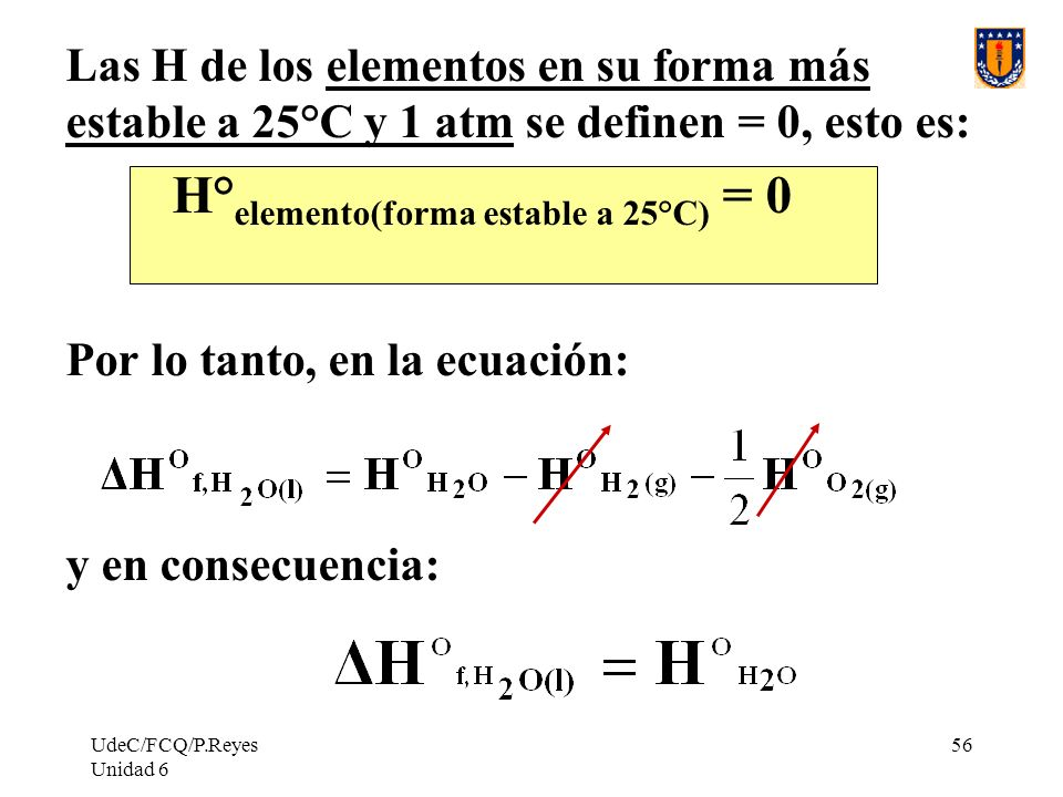 H°elemento(forma estable a 25°C) = 0