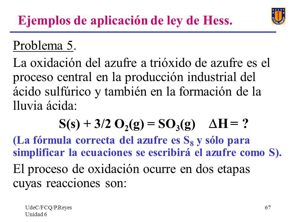 Ejemplos de aplicación de ley de Hess.