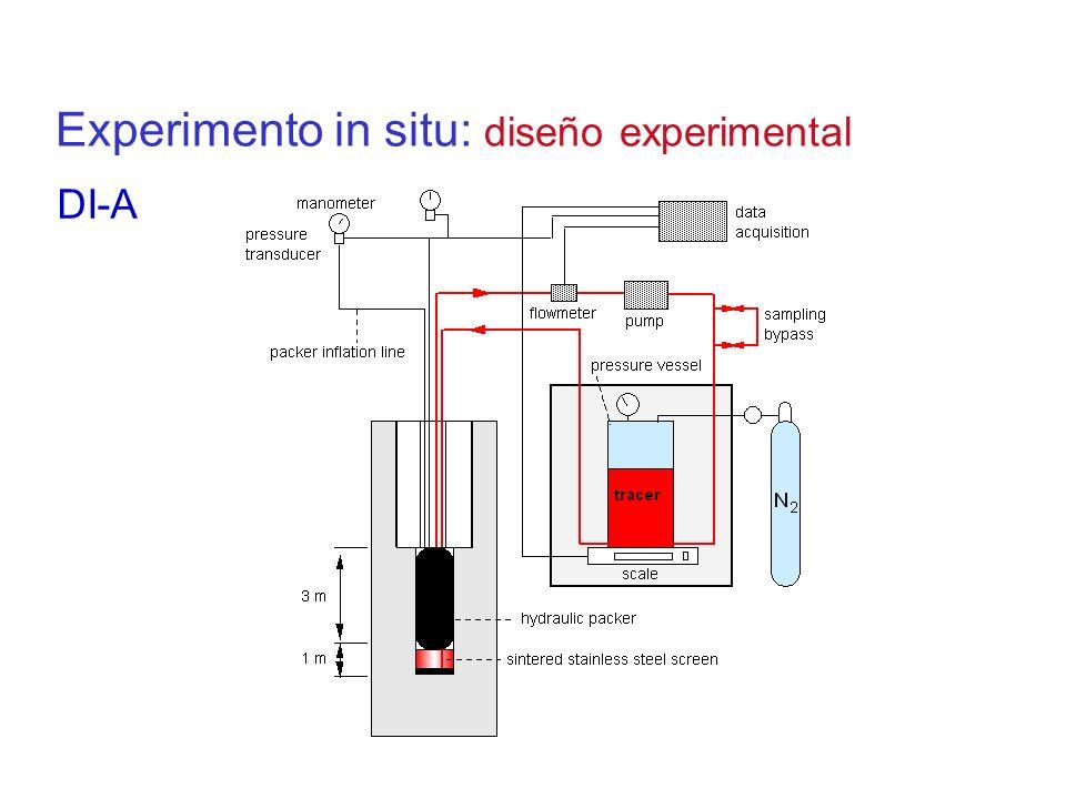 Experimento in situ: diseño experimental