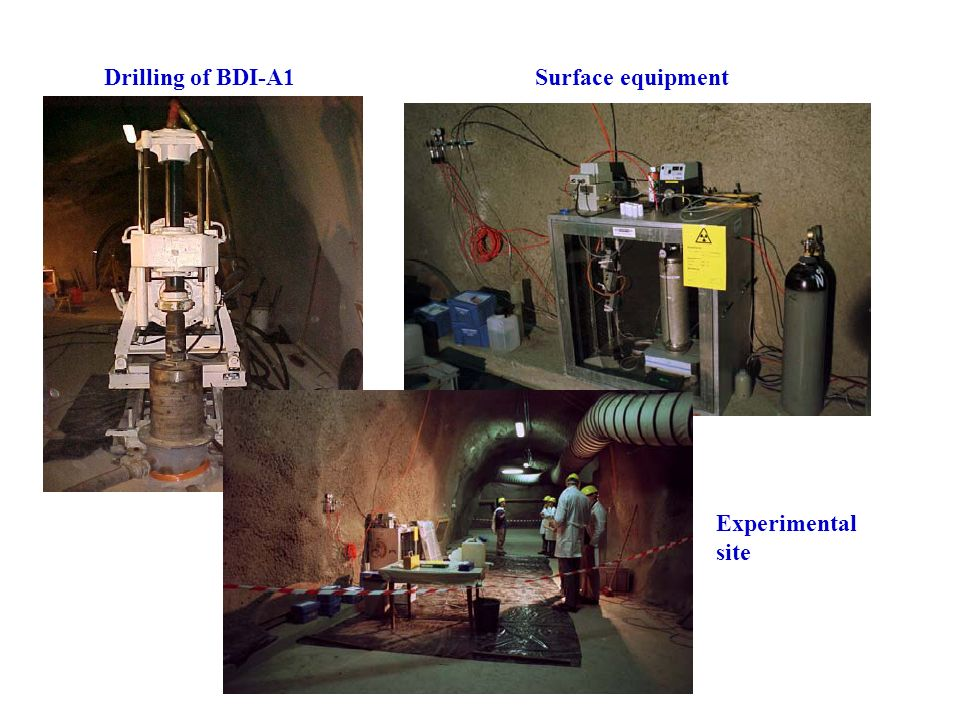 Drilling of BDI-A1 Surface equipment Experimental site