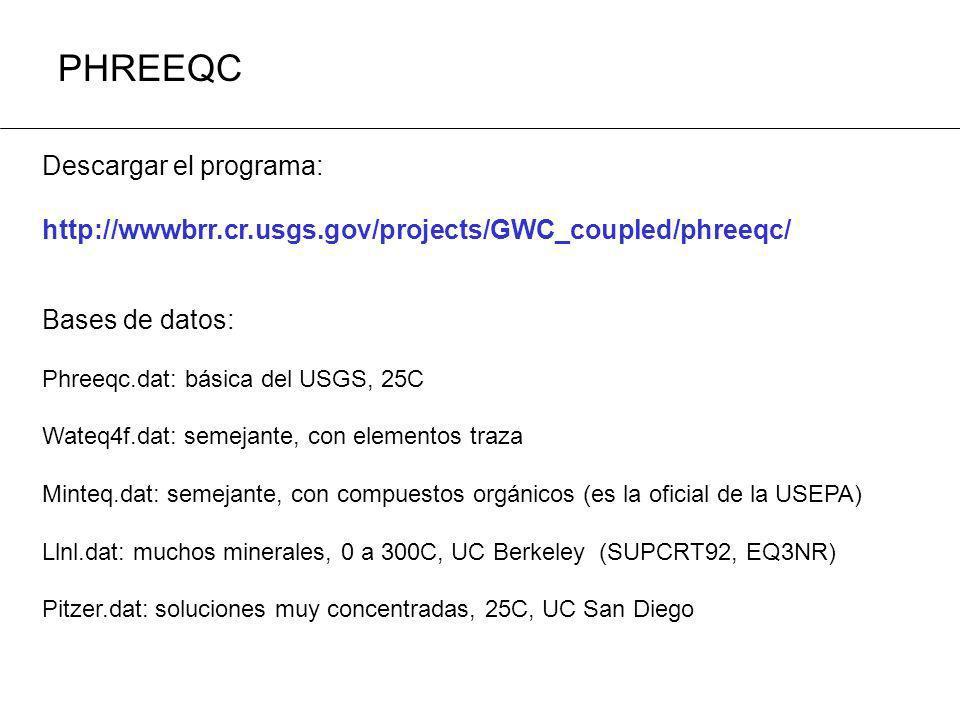 PHREEQC Descargar el programa: