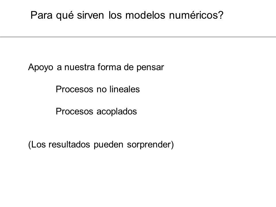 Para qué sirven los modelos numéricos