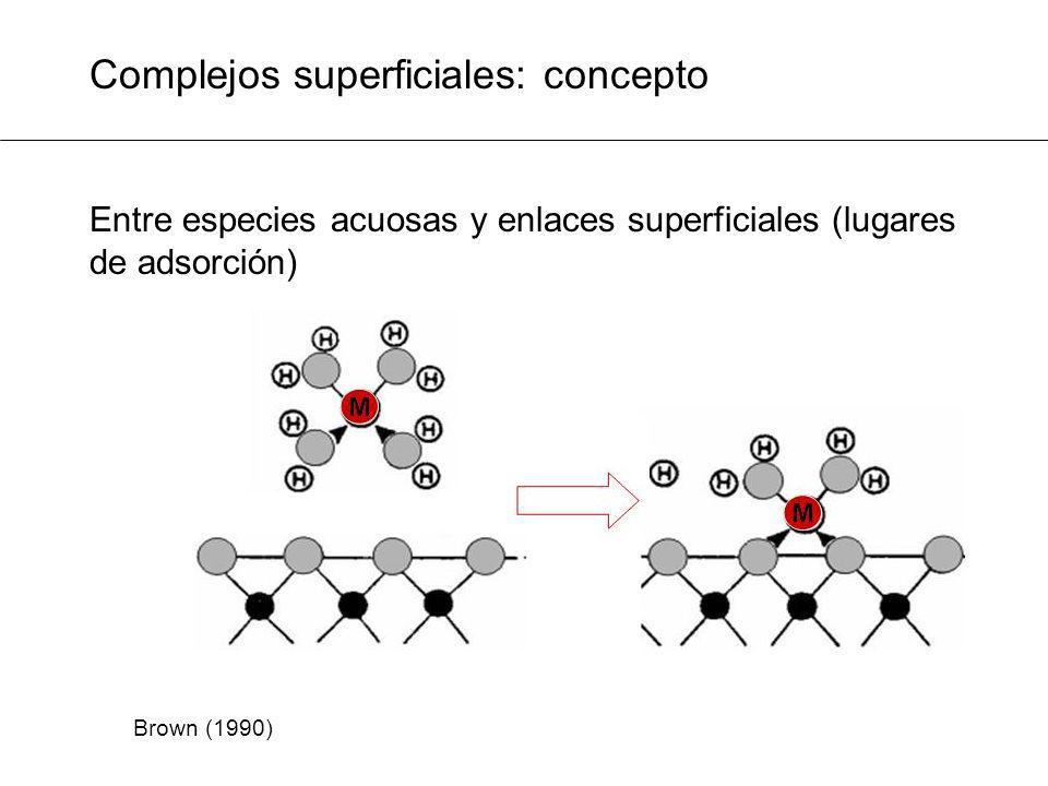 Complejos superficiales: concepto