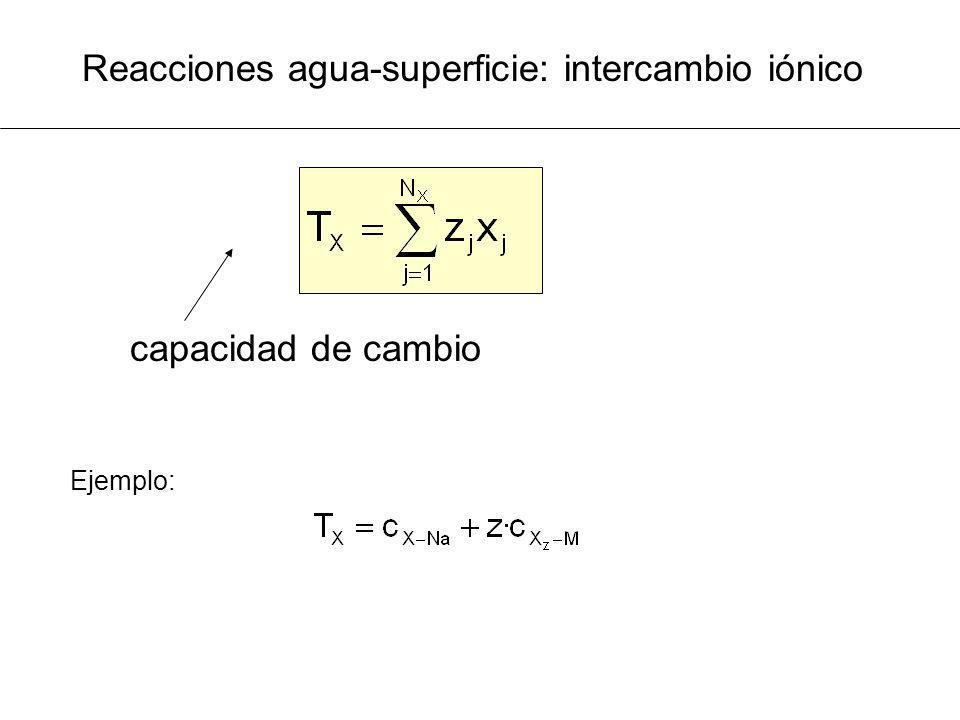 Reacciones agua-superficie: intercambio iónico