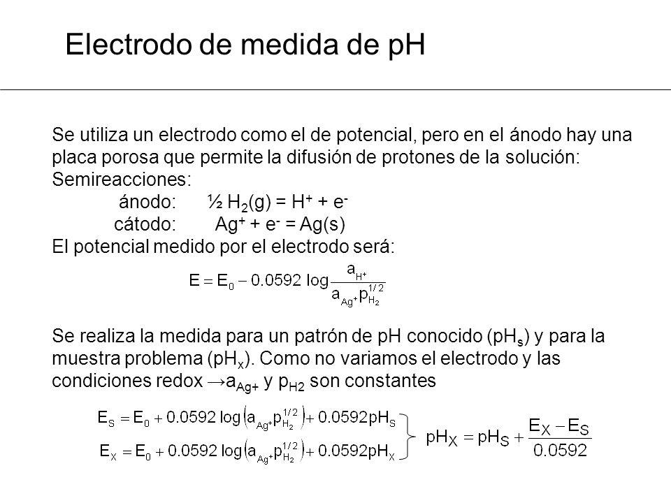 Electrodo de medida de pH
