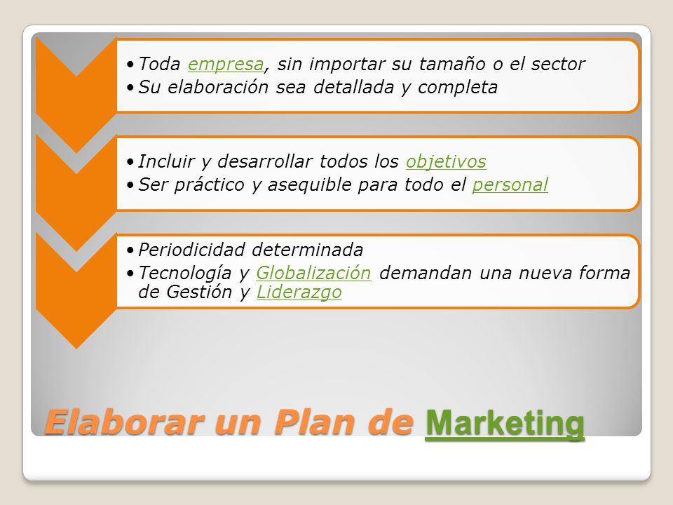 Elaborar un Plan de Marketing