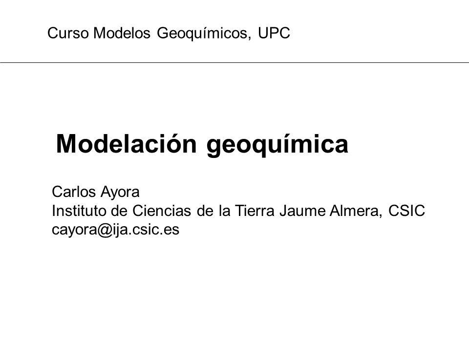 Modelación geoquímica