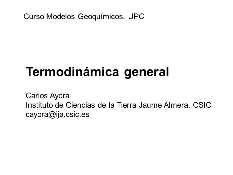 Termodinámica general