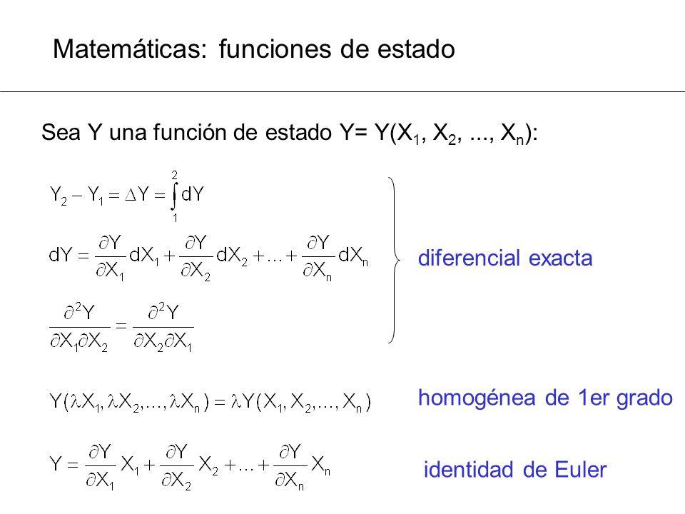 Matemáticas: funciones de estado