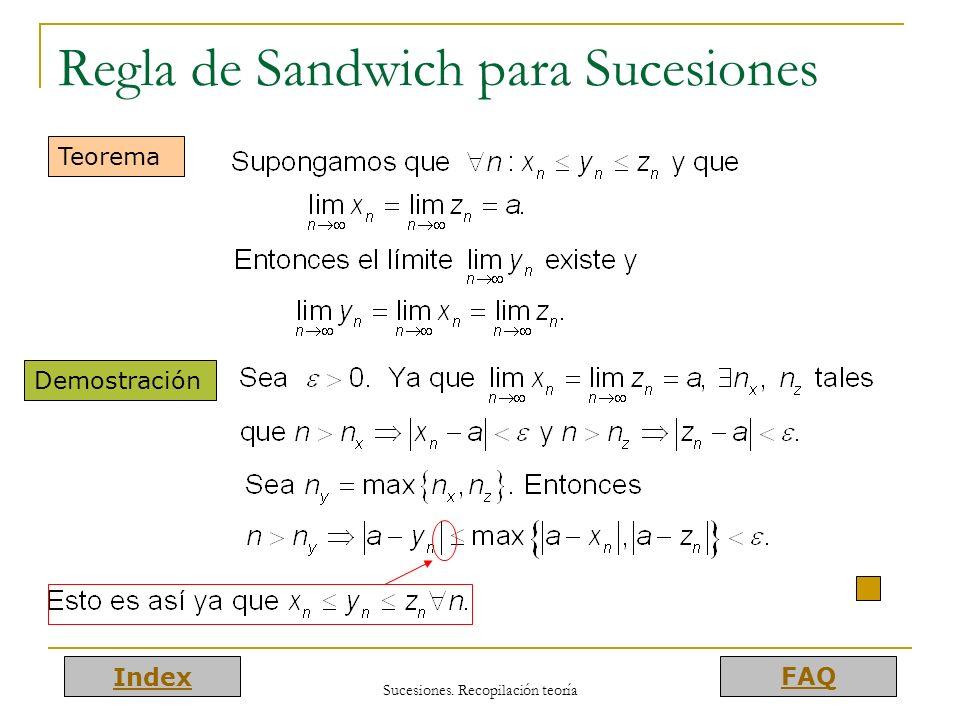 Regla de Sandwich para Sucesiones