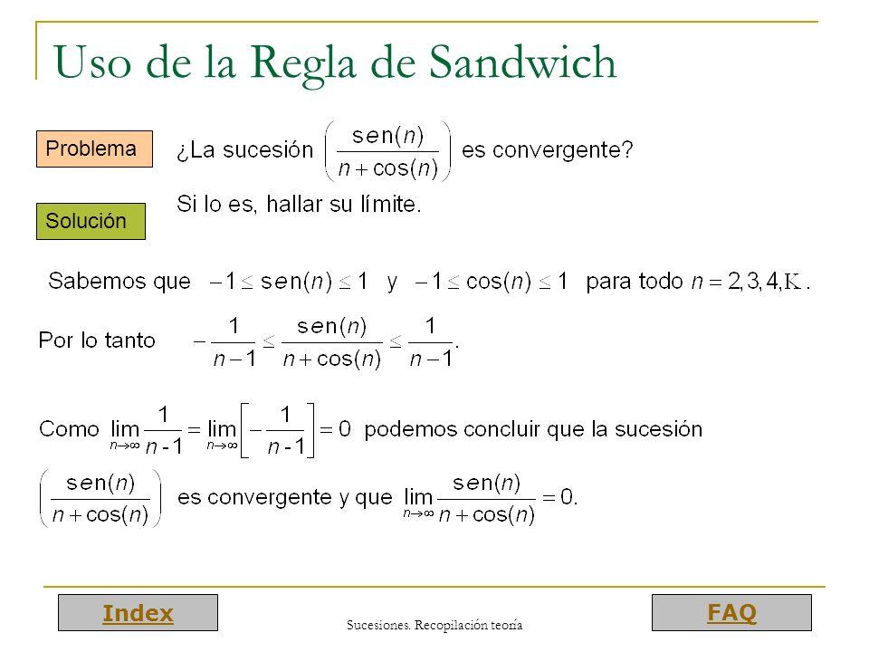 Uso de la Regla de Sandwich
