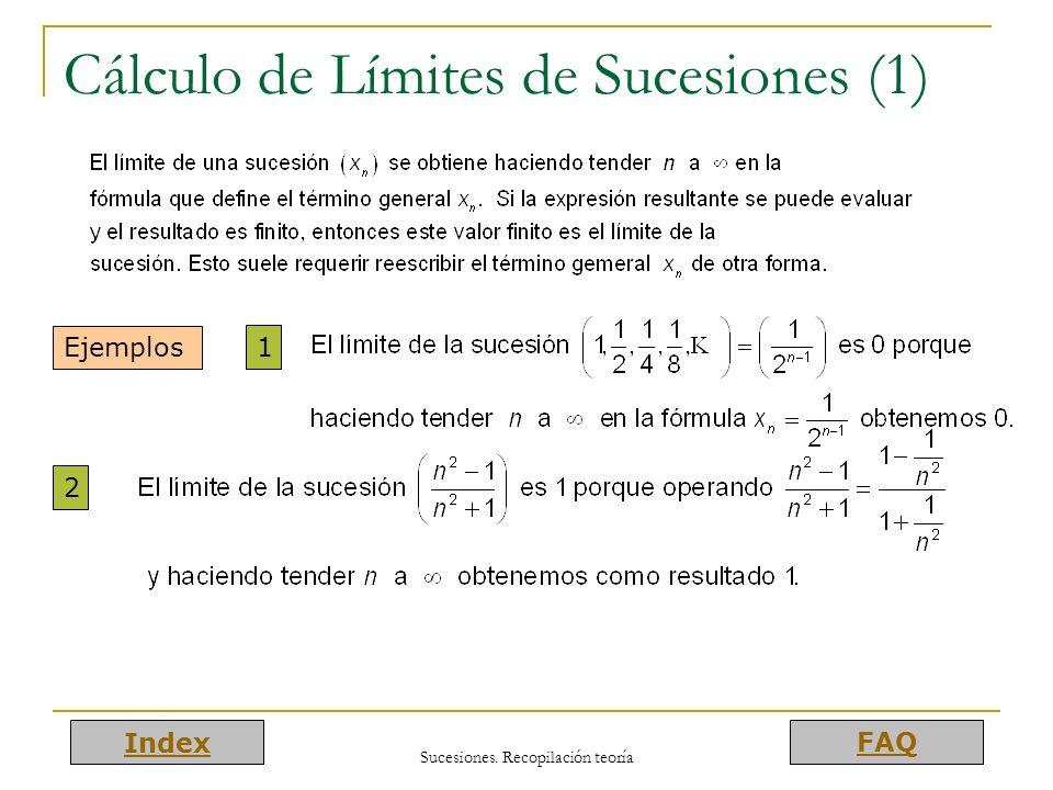 Cálculo de Límites de Sucesiones (1)