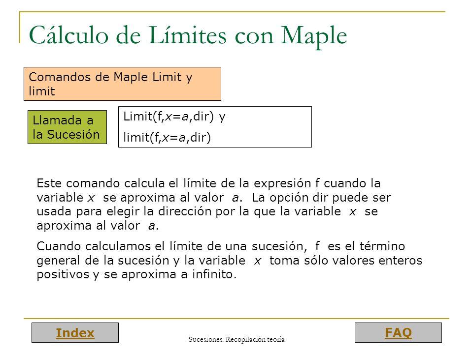 Cálculo de Límites con Maple
