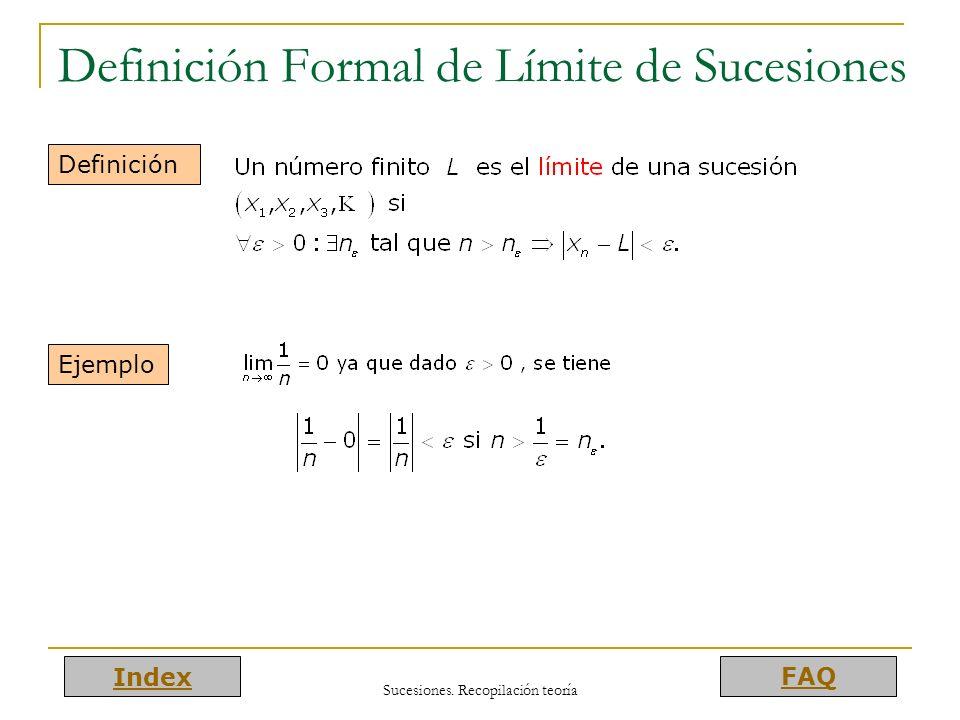 Definición Formal de Límite de Sucesiones