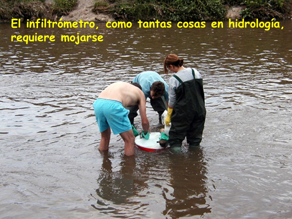 El infiltrómetro, como tantas cosas en hidrología, requiere mojarse