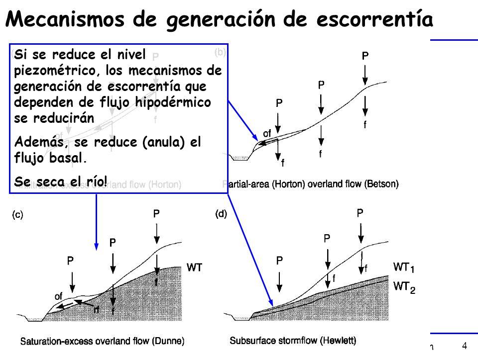 Mecanismos de generación de escorrentía