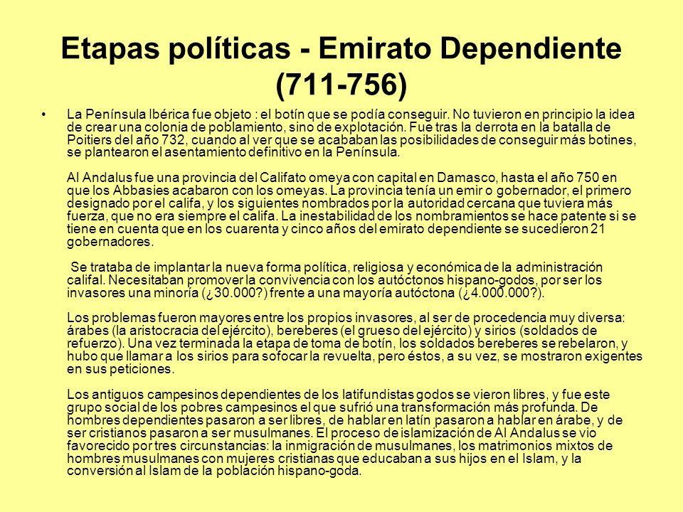 Etapas políticas - Emirato Dependiente (711-756)