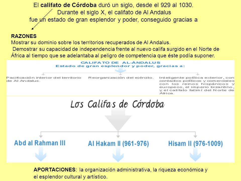 El califato de Córdoba duró un siglo, desde el 929 al 1030.