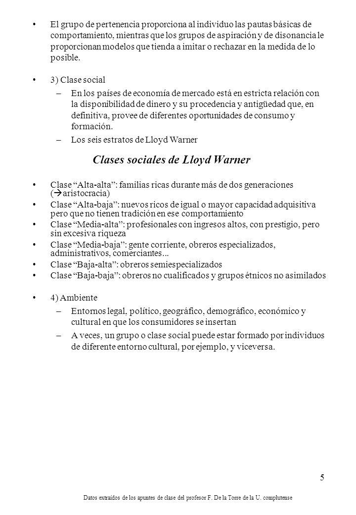 Clases sociales de Lloyd Warner