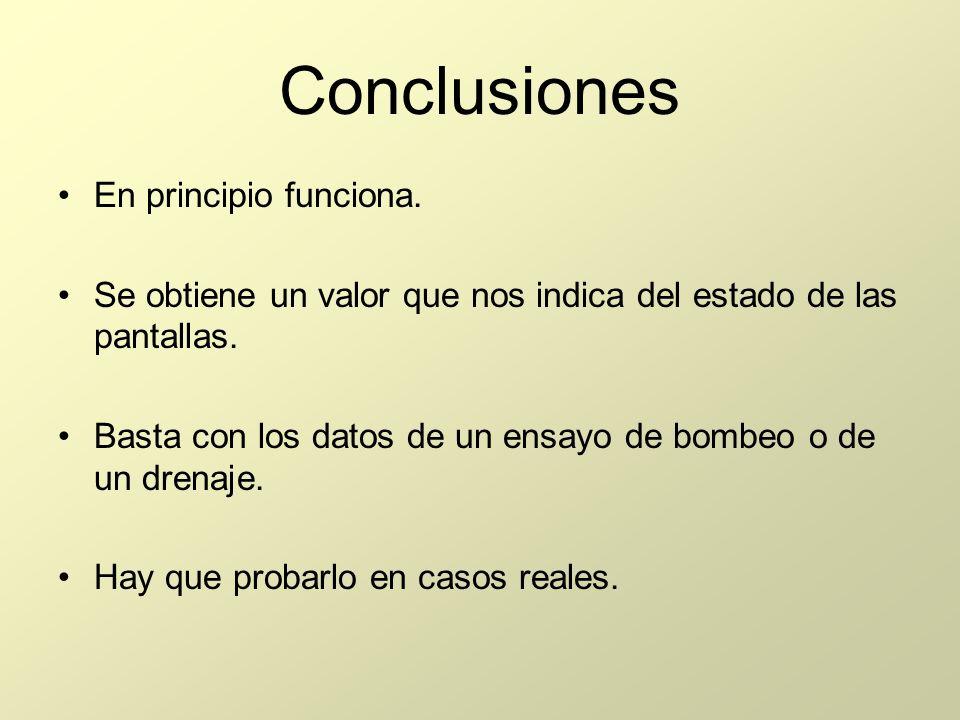 Conclusiones En principio funciona.