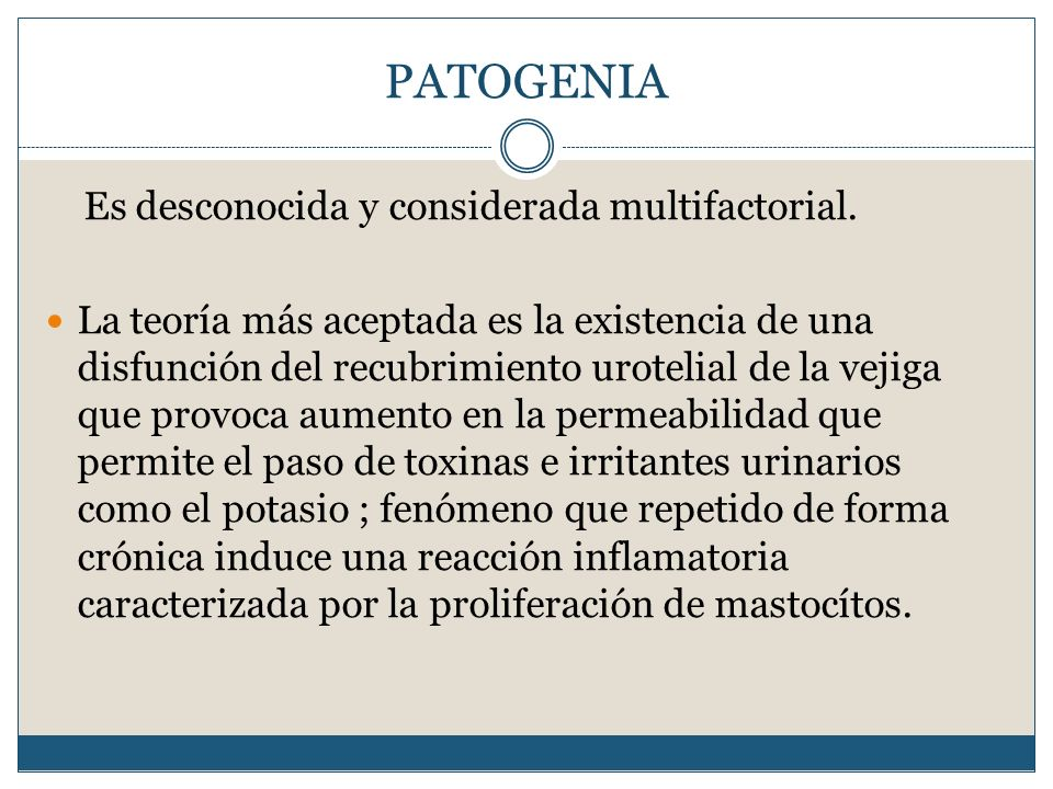 PATOGENIA Es desconocida y considerada multifactorial.
