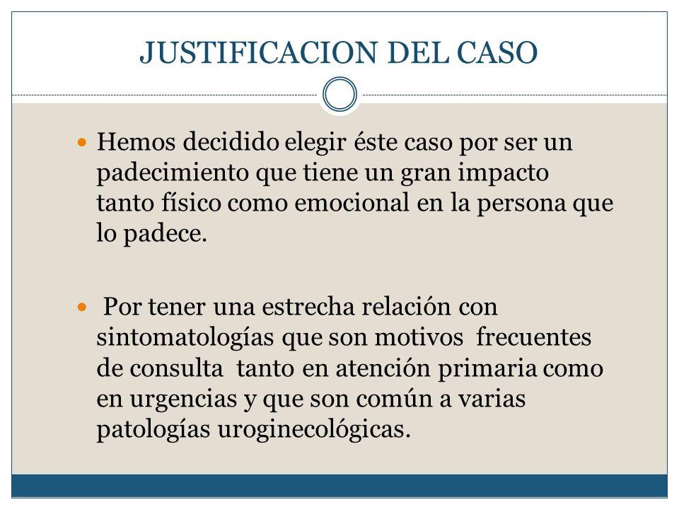 JUSTIFICACION DEL CASO