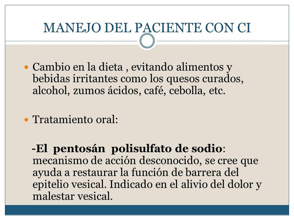 MANEJO DEL PACIENTE CON CI