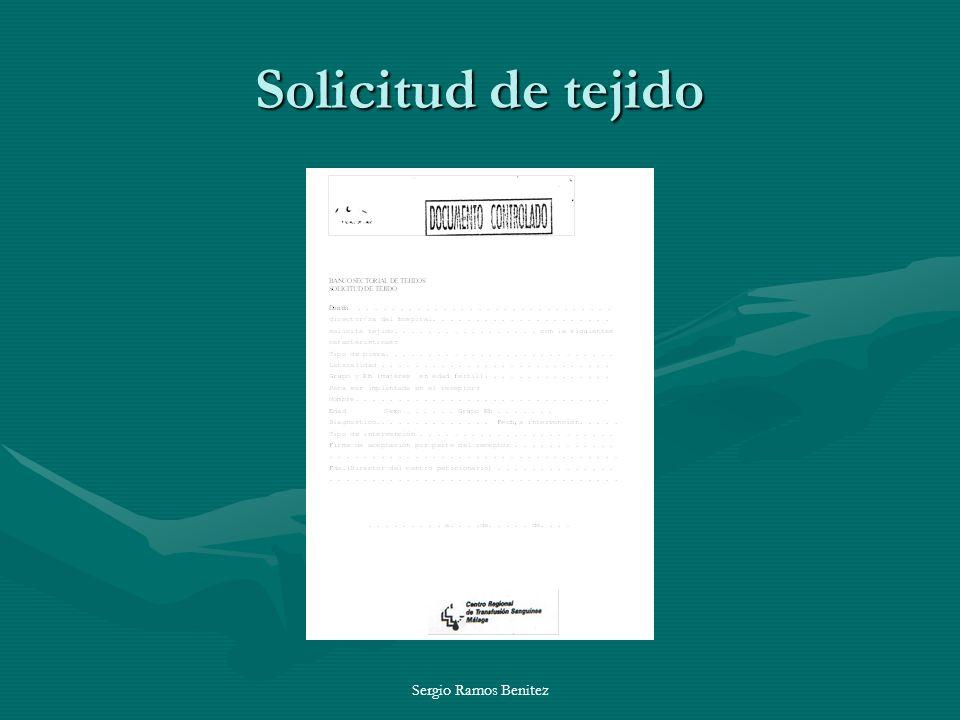 Solicitud de tejido Sergio Ramos Benitez