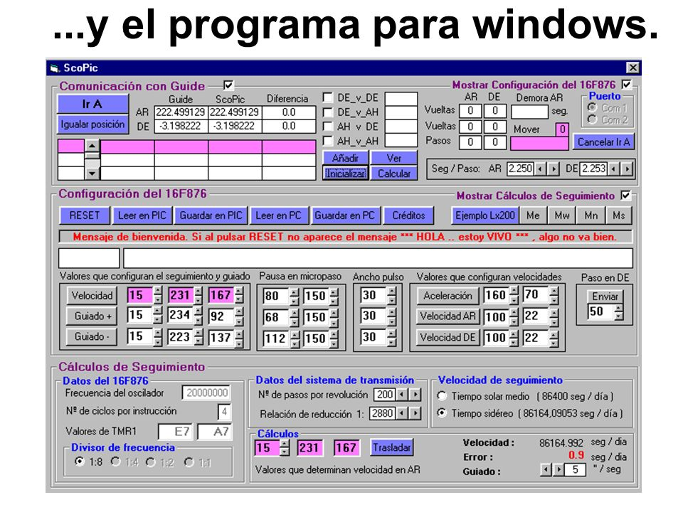 ...y el programa para windows.