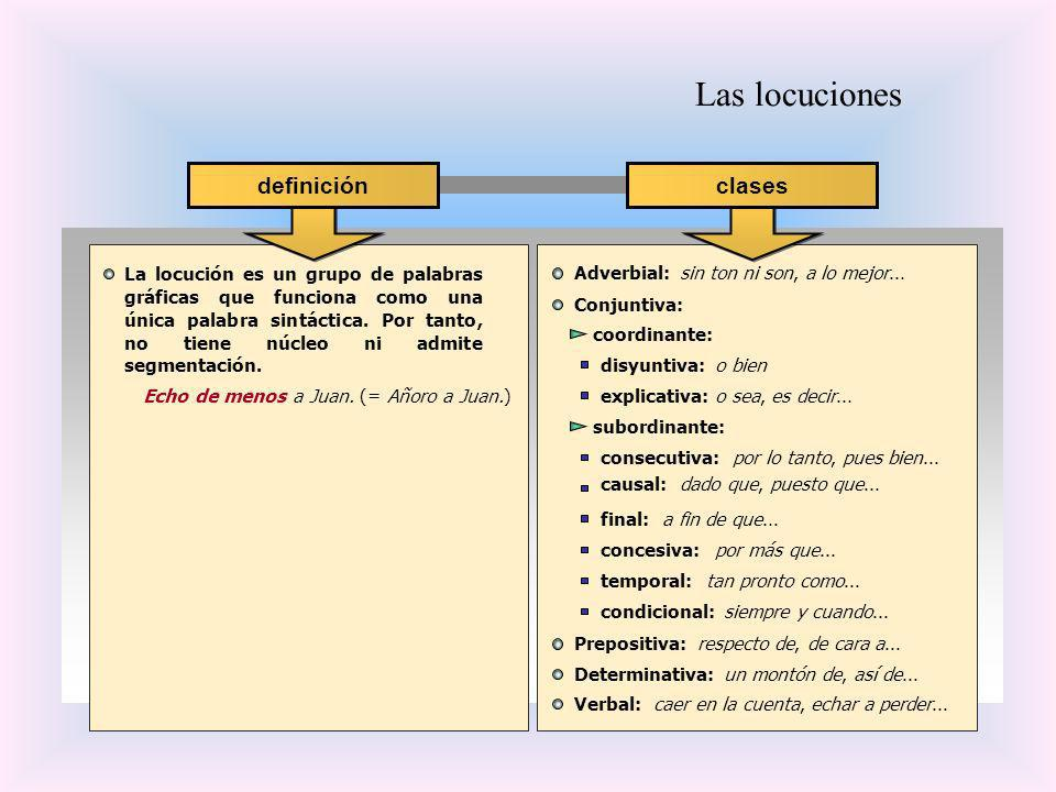 Las locuciones definición clases