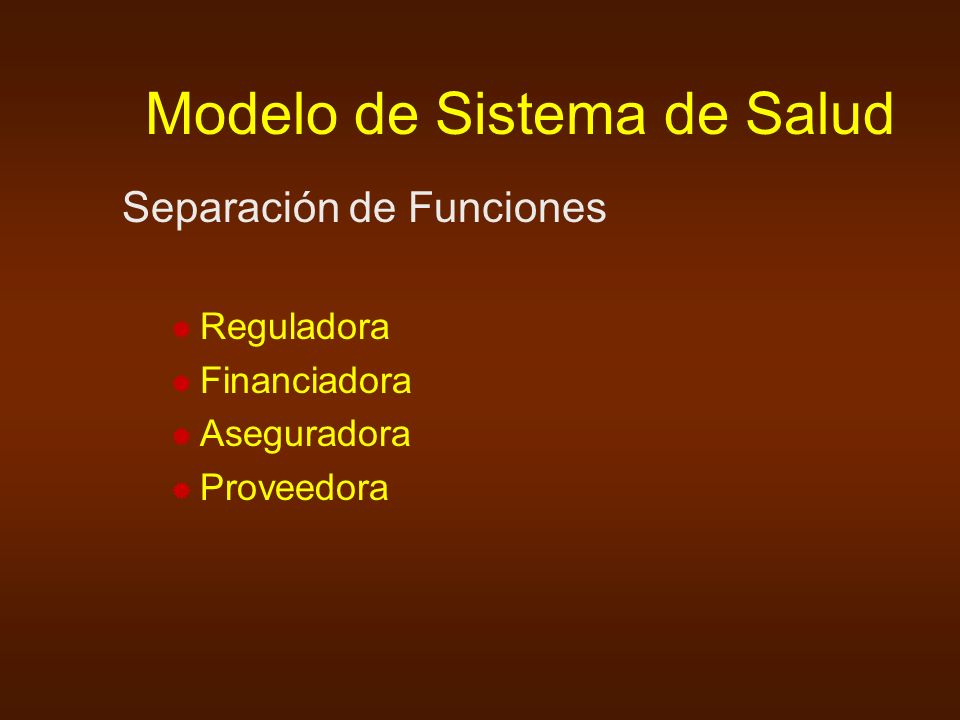 Modelo de Sistema de Salud