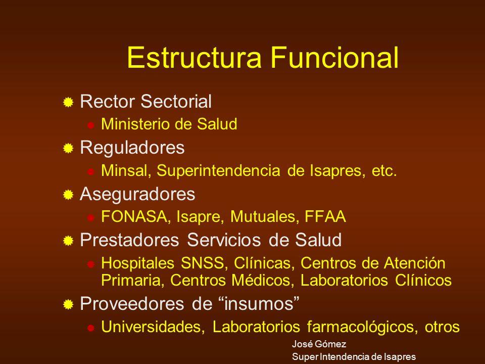 Estructura Funcional Rector Sectorial Reguladores Aseguradores